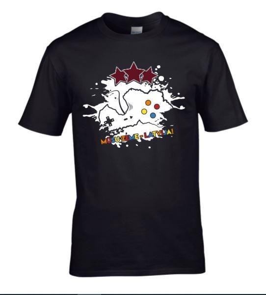 Mūsu Zeme Latvija E-Basketbola t-krekls