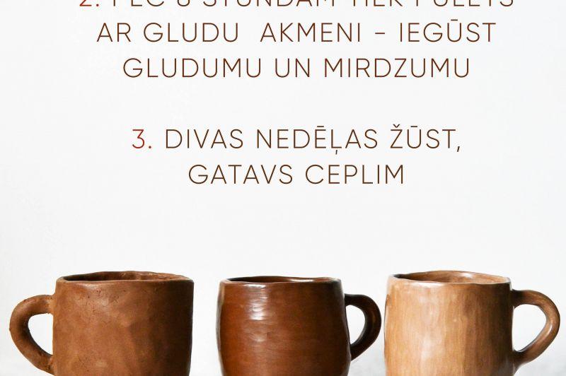 Melnās keramikas meistarklase